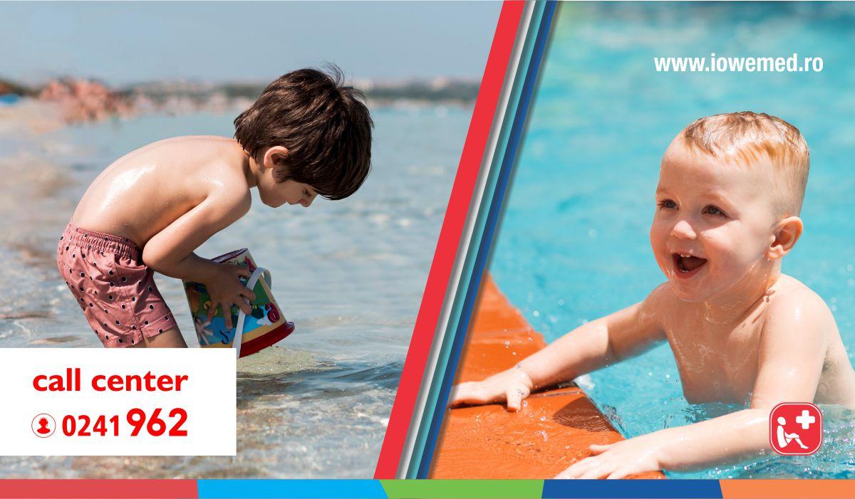 Baie în mare sau în  piscină? Care variantă este recomandată celor mici?
